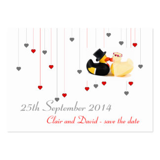 Wedding ducks 4 ... Save the date Pack Of Chubby Business Cards