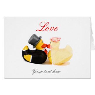 Wedding ducks greeting card