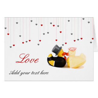 Wedding ducks greeting card