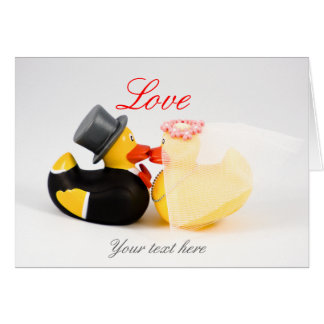 Wedding ducks note card