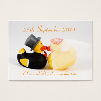 Wedding ducks ... Save the date