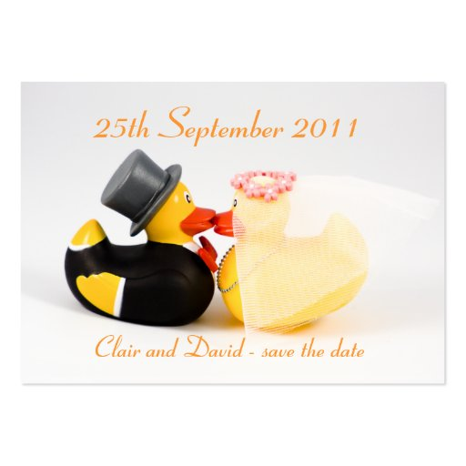 Wedding ducks ... Save the date Business Card
