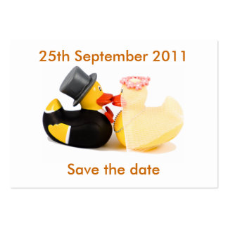 Wedding ducks ... Save the date Pack Of Chubby Business Cards
