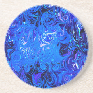 Wedding elegant blue vintage chic pattern drink coaster