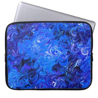 Wedding elegant blue vintage chic pattern laptop sleeve