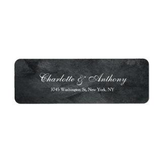 Wedding Elegant Creative Grey Minimalist Return Address Label