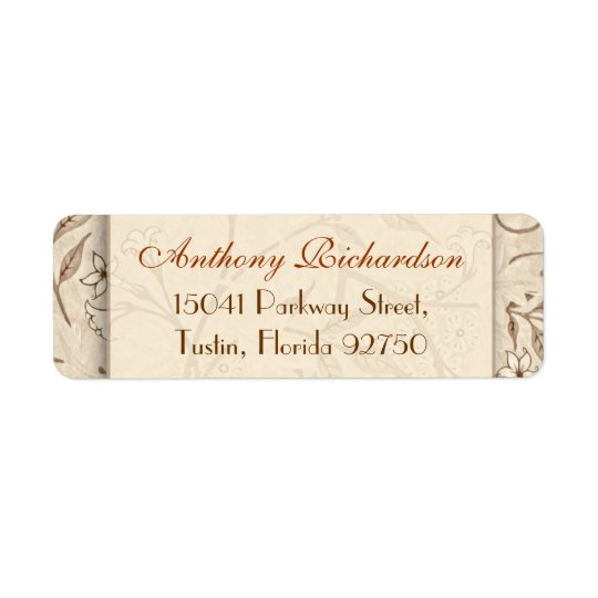 wedding elegant floral address labels
