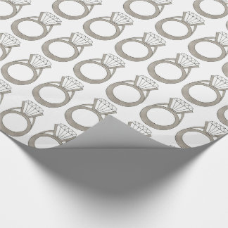 Wedding Engagement Bride Diamond Ring Gift Wrap Wrapping Paper