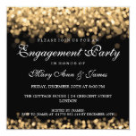 Wedding Engagement Party Gold Lights 13 Cm X 13 Cm Square Invitation Card