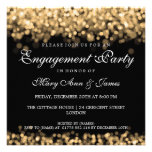 Wedding Engagement Party Gold Lights Personalised Invitation