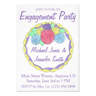 Wedding Engagement Party Shower Cake Invitations