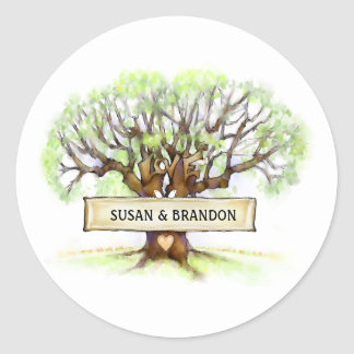 Wedding Envelope Seal Sticker - Love Tree