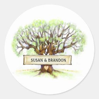 Wedding Envelope Seal Sticker - Love Tree