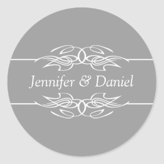 Wedding Envelope Seal Stickers Bride And Groom