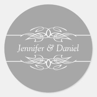Wedding Envelope Seal Stickers Bride And Groom