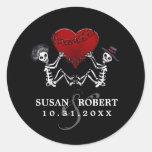 Wedding Envelope Sticker - Skeletons with Heart