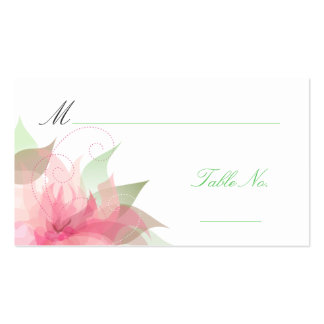 Wedding Escort Guest Place Cards Pack Of Standard Business Cards