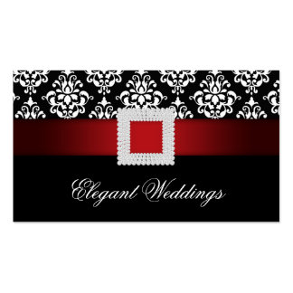 Wedding Event Planner Jewel Brooch Red Black White Pack Of Standard Business Cards