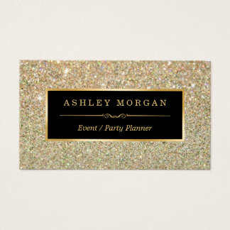 Wedding Event Planner - Sassy Beauty Gold Glitter Business Card