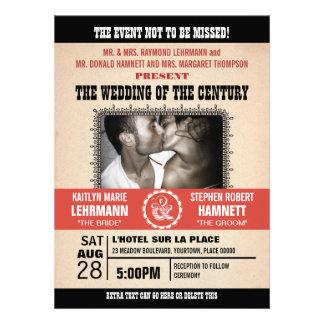 Wedding Event Poster-Style Photo Invitation