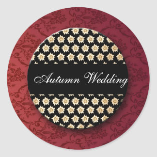 wedding_fall round sticker