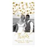 Wedding Faux Gold Glitter Dots Thank You
