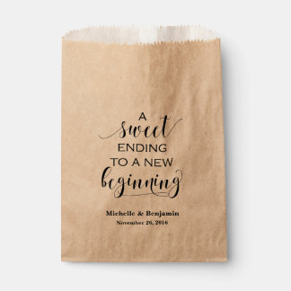 Wedding Favor Bag - Sweet Ending to New Beginning Favour Bags