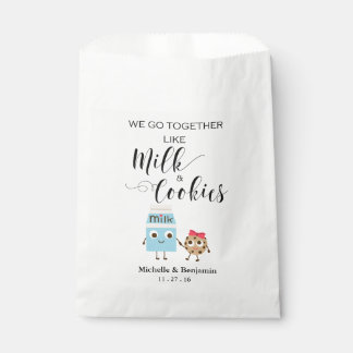 Wedding Favor Bag - We Go Together Cookies & Milk Favour Bags