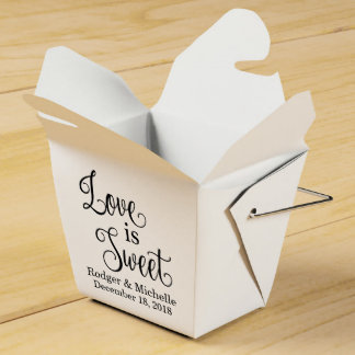 Wedding Favor Box - Love Is Sweet Wedding Favour Box