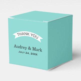 Wedding Favor Container | Aqua Blue Favour Box