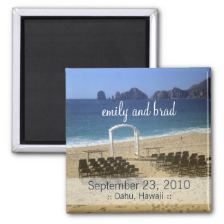 Wedding Favor Destination Beach Wedding Magnet