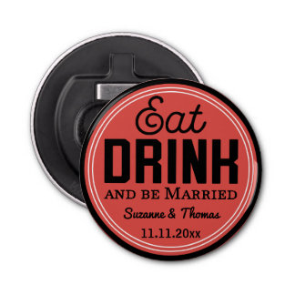 Wedding Favor - Eat, Drink and Be Married Retro
