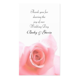 Wedding Favor Gift Pink Rose Wedding Set Business Card Templates