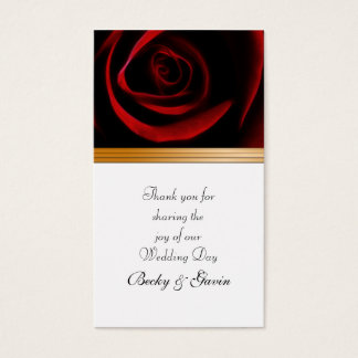 Wedding Favor Gift Tag Roses Are Red