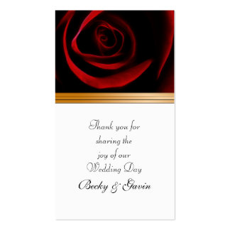 Wedding Favor Gift Tag Roses Are Red Business Card