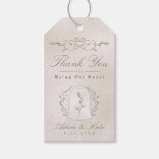 WEDDING FAVOR GIFT TAGS | Elegant Rose of Beauty