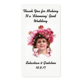 Wedding Favor Label FLOWER SEED PACKET Vintage Shipping Label
