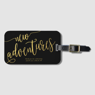 Wedding Favor Luggage Tags - Whimsical Type