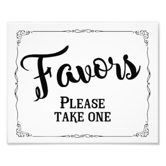 Wedding favor sign, party favor art photo