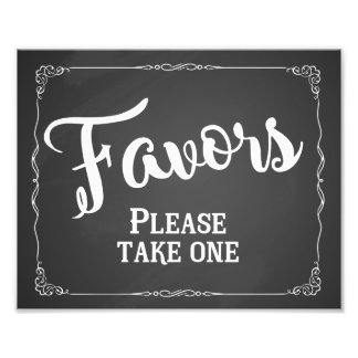 Wedding favor sign, party favor chalkboard art photo