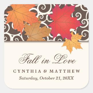 Wedding Favor Sticker   Autumn Fall Theme