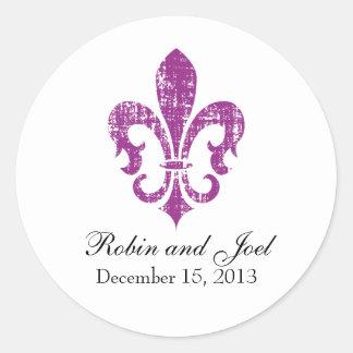 Wedding Favor Sticker | New Orleans | Fuschia