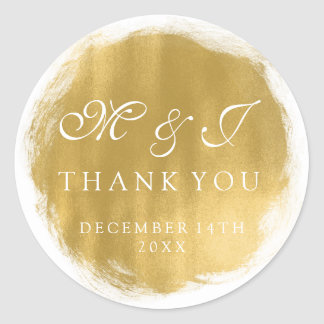 Wedding Favor Tag Gold Paint Look