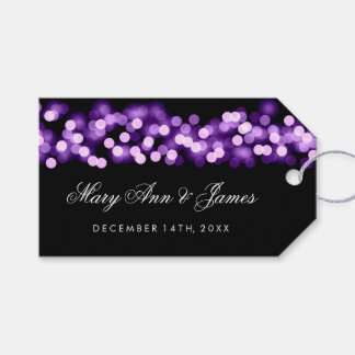 Wedding Favor Tag Purple Hollywood Glam