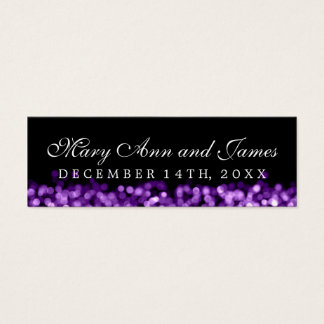 Wedding Favor Tag Purple Lights Mini Business Card