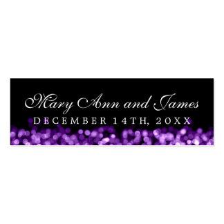 Wedding Favor Tag Purple Lights Pack Of Skinny Business Cards