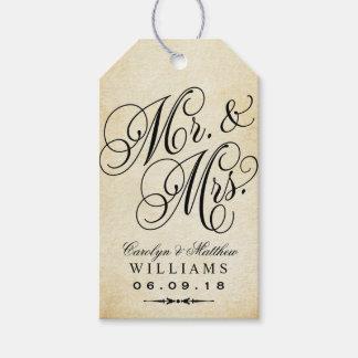 Wedding Favor Tag | Vintage Monogram