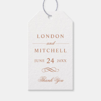 Wedding Favor Tags | Copper Classic Elegance