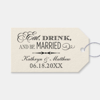 Wedding Favor Tags | Eat Drink and Be Married