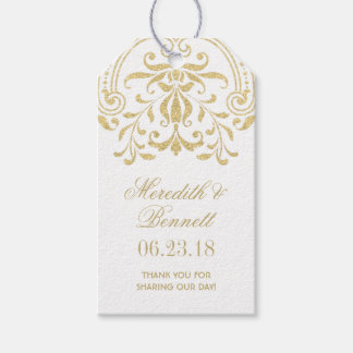 Wedding Favor Tags   Gold Vintage Glamour